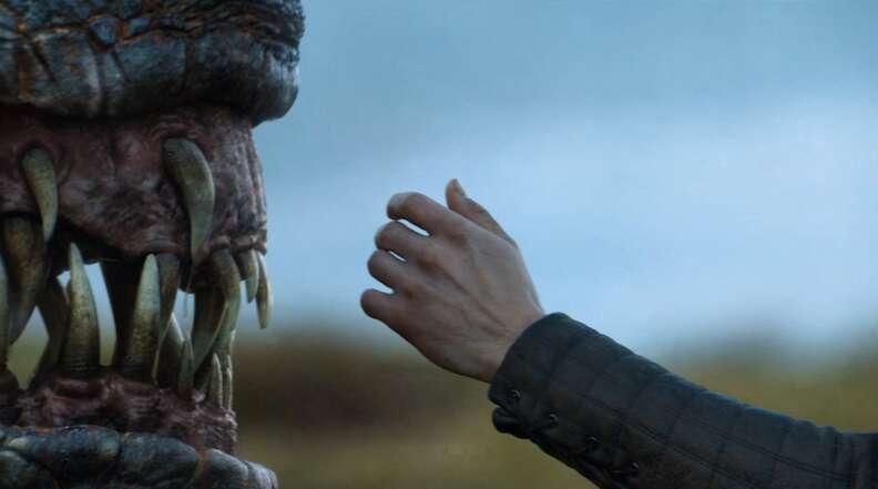 jon snow touches a dragon season 7 game of thrones