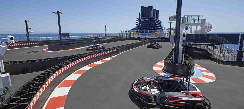 This New Cruise Ship Will Have a Huge Go-Kart Race Track on the Top Deck