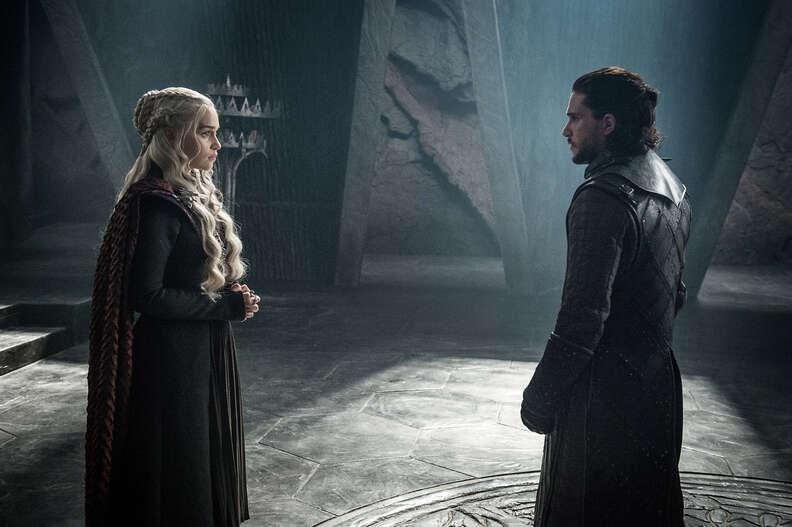 daenerys and jon snow on dragonstone game of thrones
