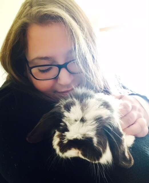 paralyzed woman adopts bunnies