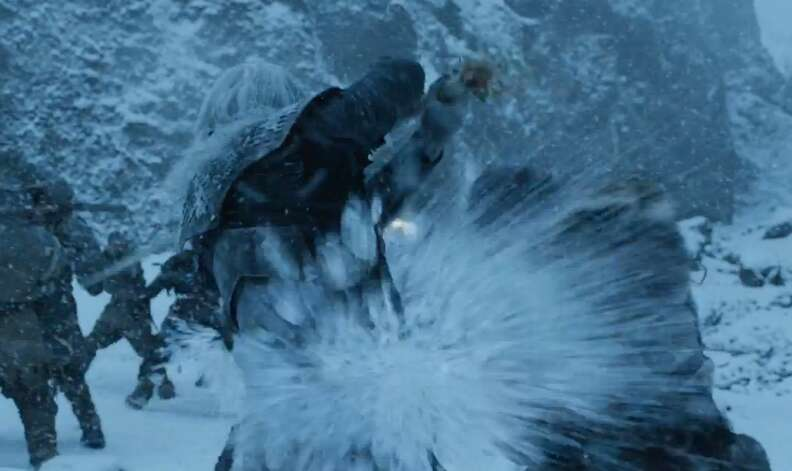 game of thrones beyond the wall wight fight