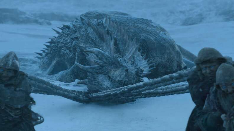 game of thrones season 7 white walker dragon