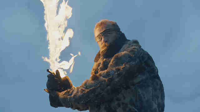 beric fire sword game of thrones season 7 beyond the wall