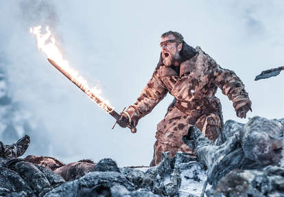 Beric Dondarrion fire sword game of thrones season 7