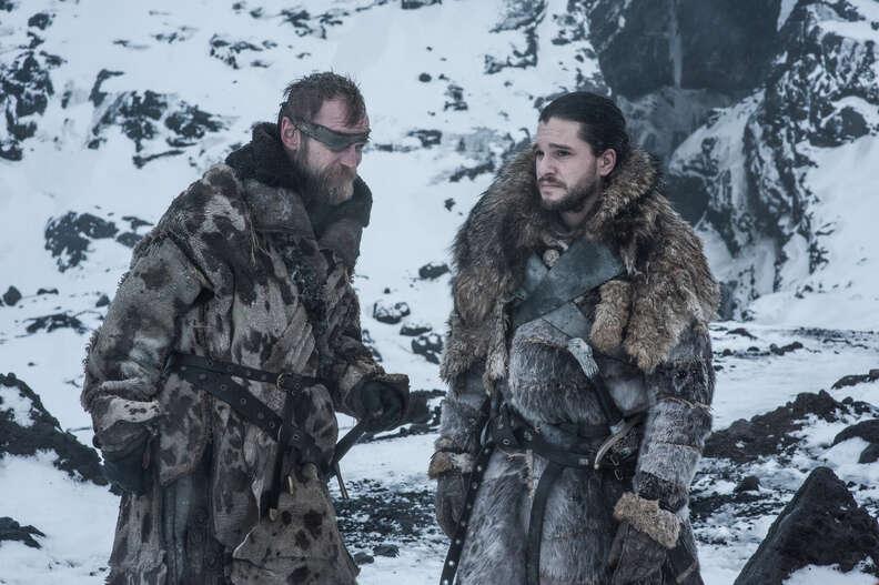 beric and jon snow game of thrones season 7 beyond the wall