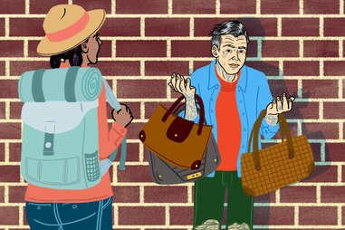 the fake handbag