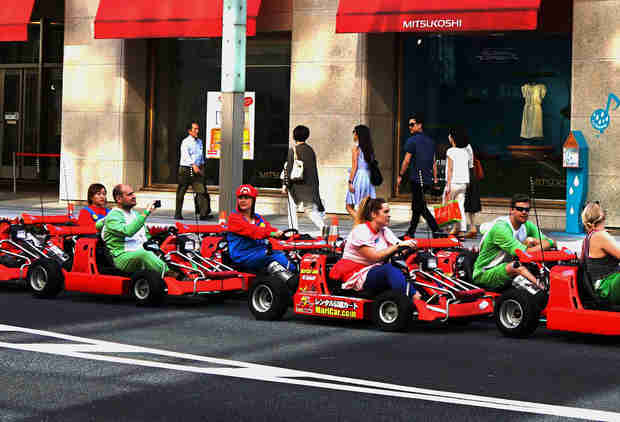 Get Your Real-Life 'Mario Kart' Kicks on This Go-Kart Tour of Tokyo