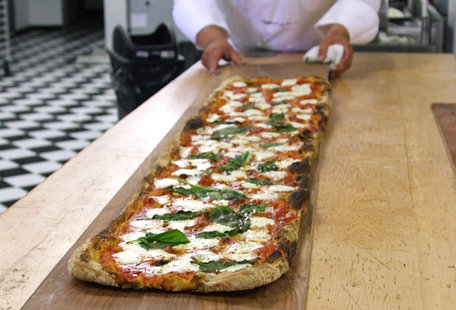 This Brooklyn Pizza Shop Makes 6-Foot-Long Pies