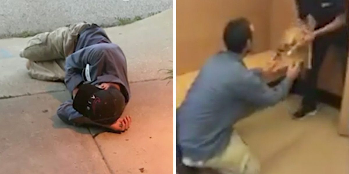 Homeless Man Sleeps Outside Animal Shelter In Hopes Of Finding His Lost Dog