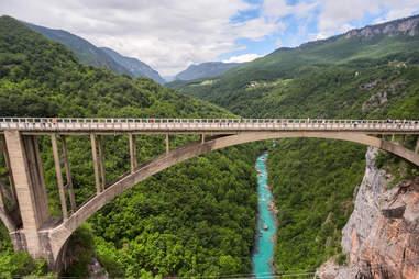 The Durdevica concrete arch bridge