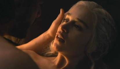 daenerys and jon snow sex scene game of thrones season 7