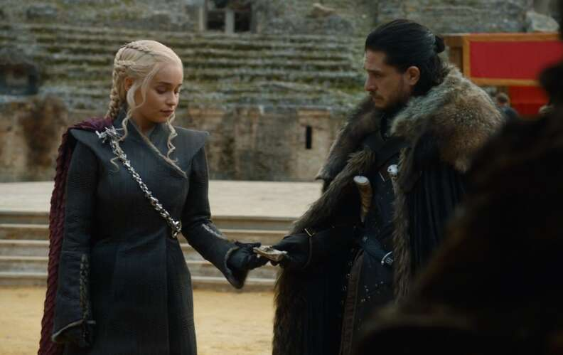 dany and jon flirting season 7 game of thrones