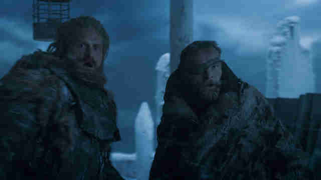 tormund and beric on wall game of thrones season 7