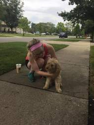 woman finds long lost dog