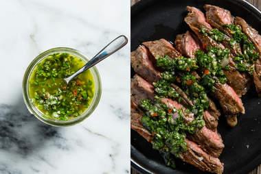 chimichurri on steak