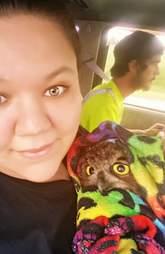 Woman saves injured owl