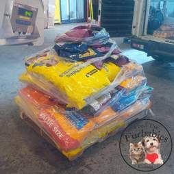 Food for pets stranded by wildfire