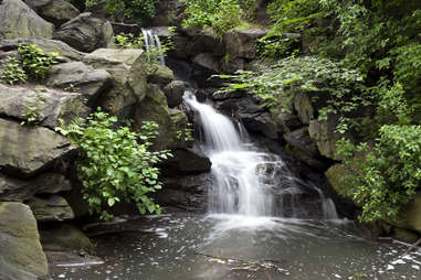 central park waterfall