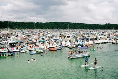 Lake Travis Party scenes | Captain Morgan | Supercall