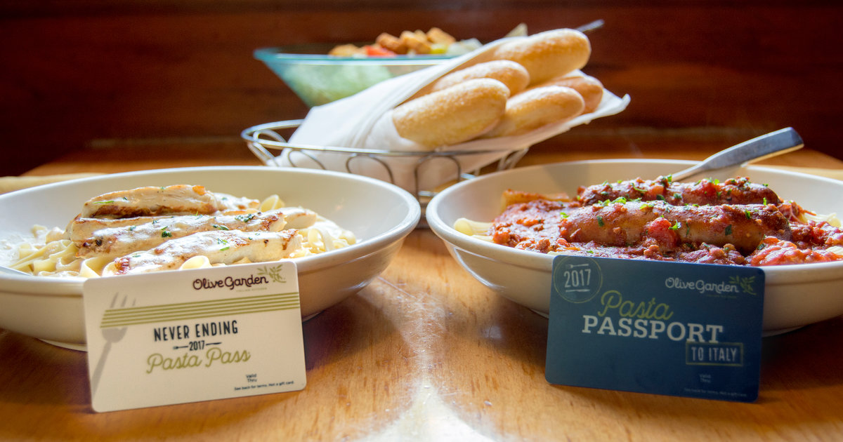 Olive Garden Pasta Pass 2017 How To Get Never Ending Pasta Thrillist