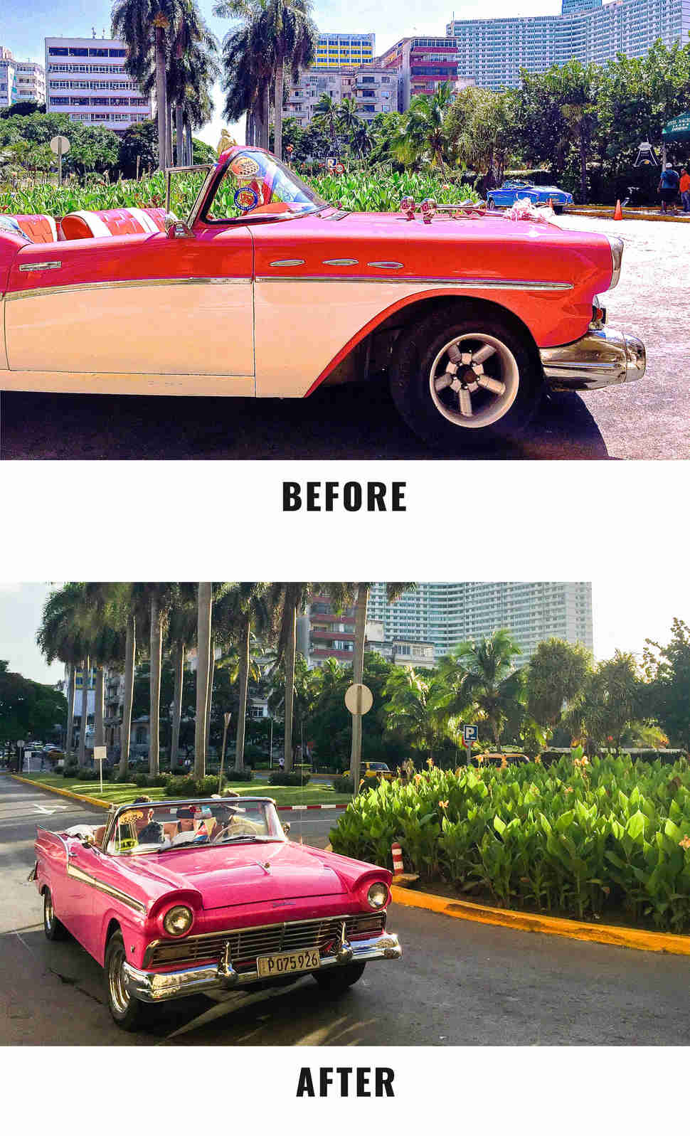 car before and after