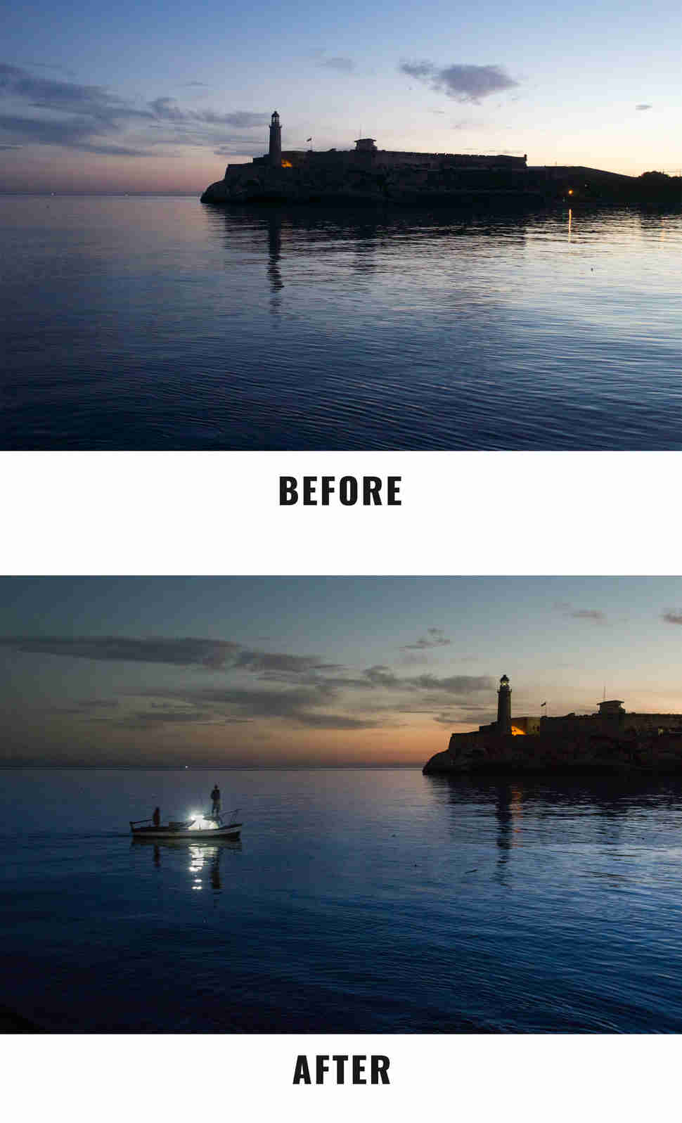 ocean before and after