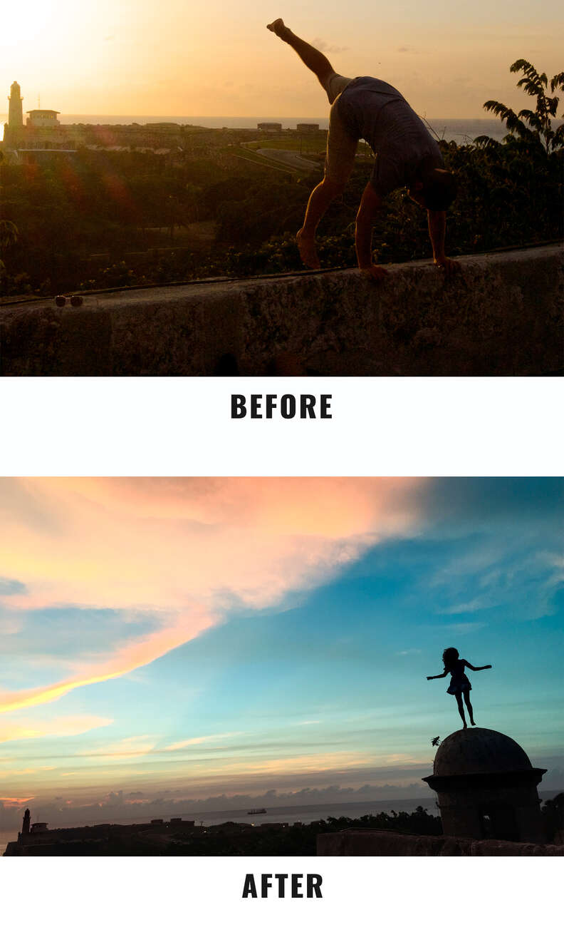 sky before and after