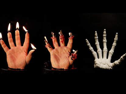 melting hand candle