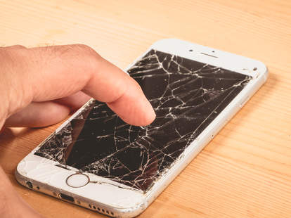 cracked iphone 6