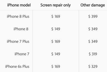 apple repair prices