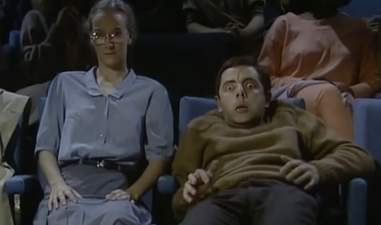 mr. bean at the cinema sketch