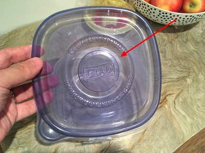 glad container lid uses