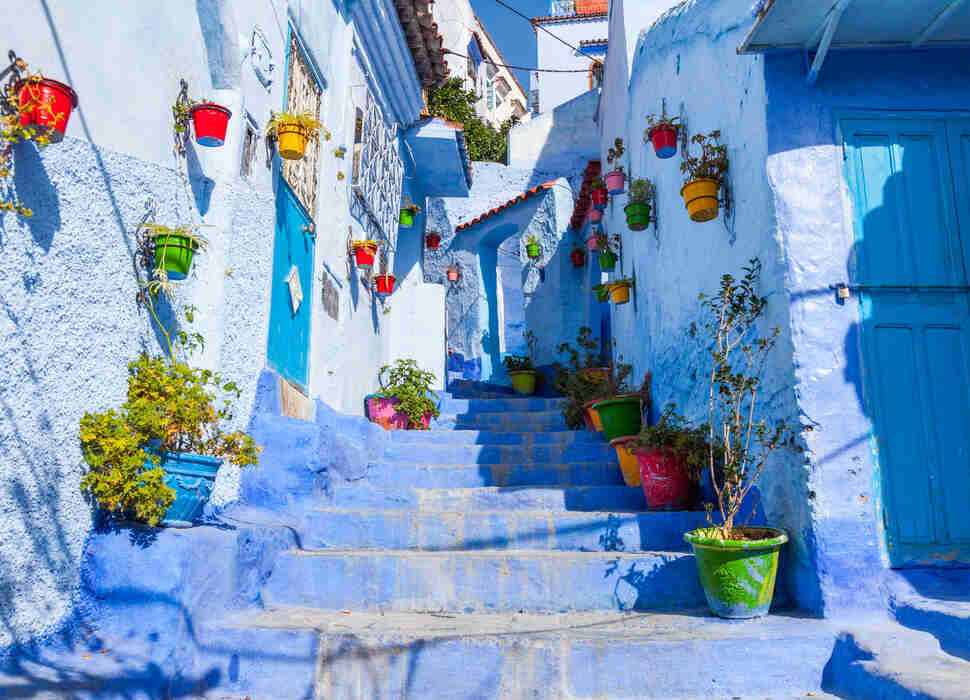 Allay of Chefchaouen, Morocco