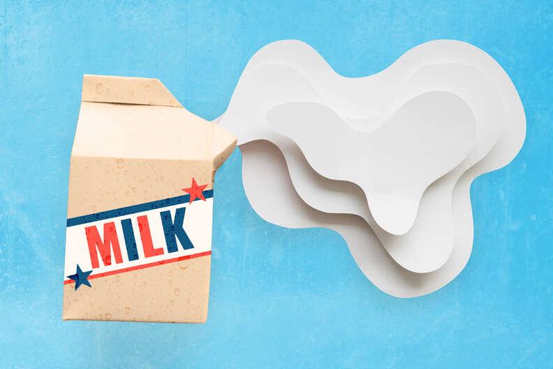carton of cold milk