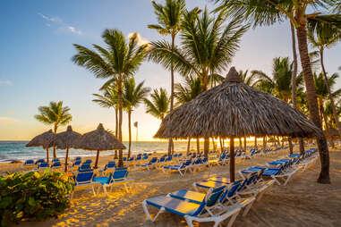 tropical beach resort in punta cana, dominican republic