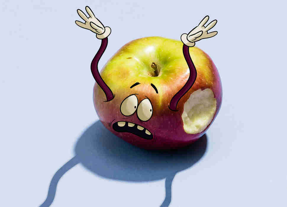 macoun cartoon apple