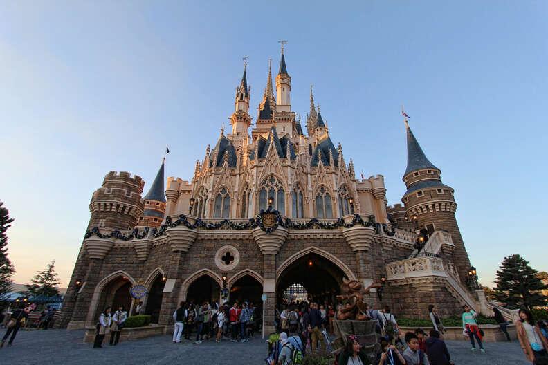 Cinderella's castle at Tokyo Disneyland
