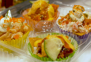 These Cupcakes Are Made of Sushi and Wonton Shells