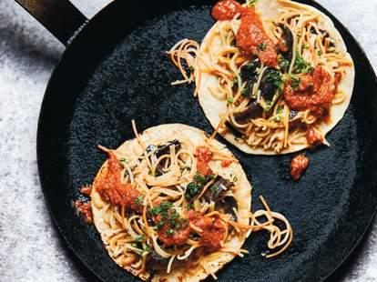 pasta tacos