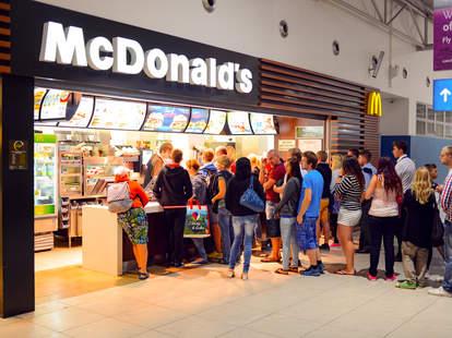 mcdonald's counter