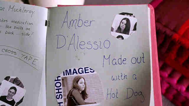 mean girls amber d'alessio made out with a hot dog