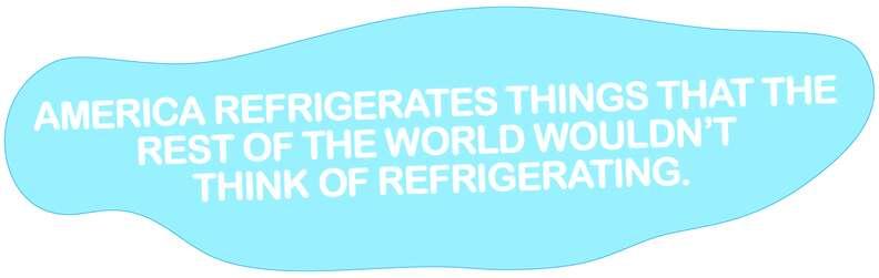 America refrigerates everything.
