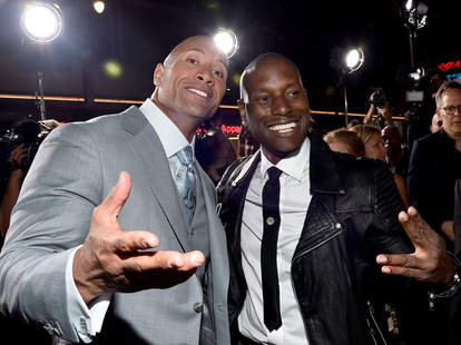 the rock and tyrese fast and furious 7