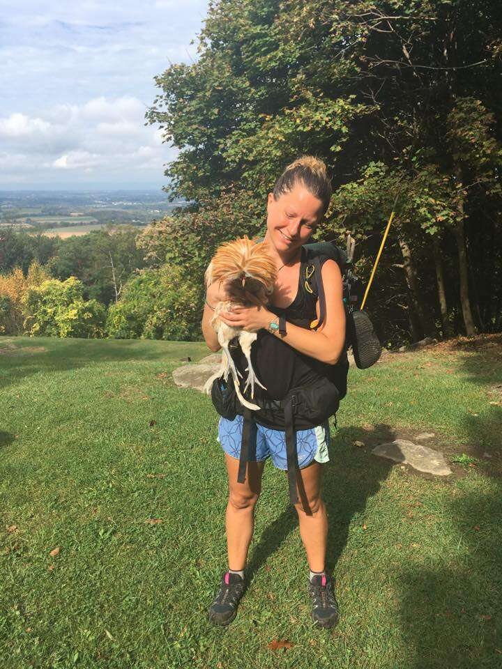 Appalachian Trail hiker rescues rooster