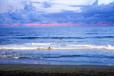 sunset on canggu beach, bali