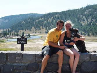 couple adopts dog on road trip