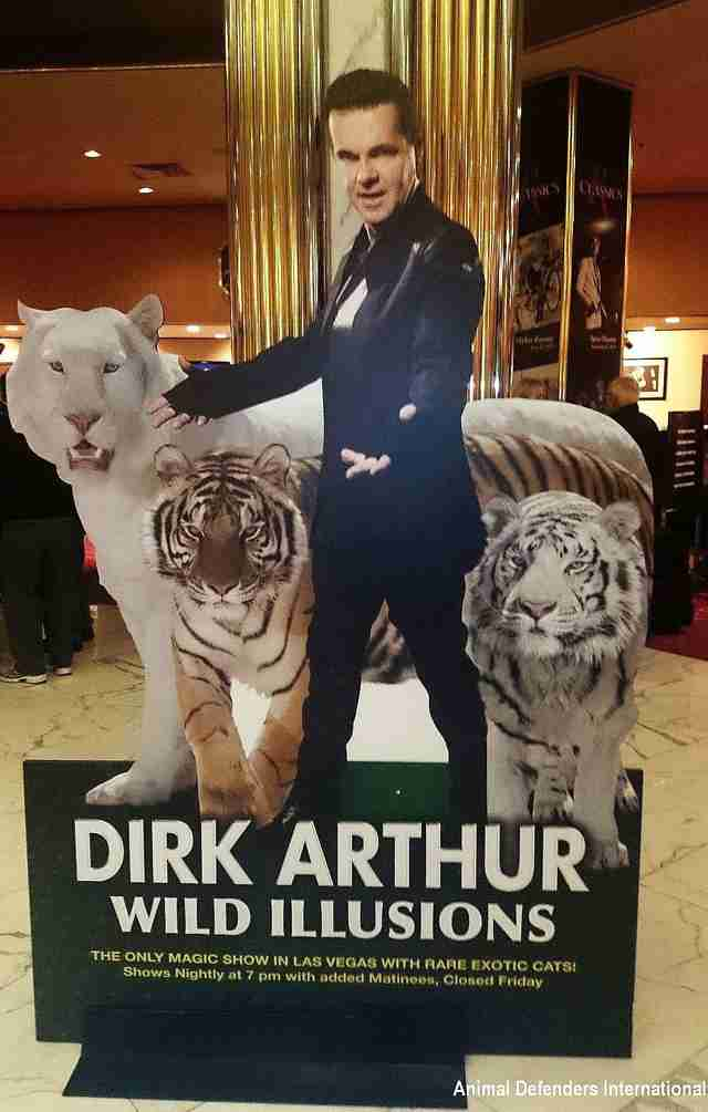 Sign advertising Dirk Arthur's Las Vegas show