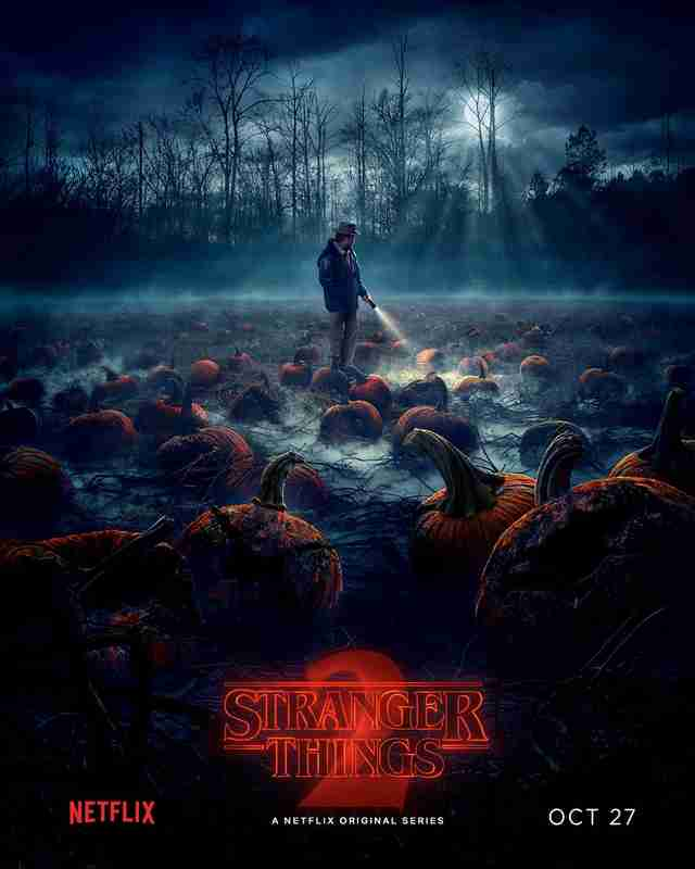 stranger things 2 pumpkin patch poster