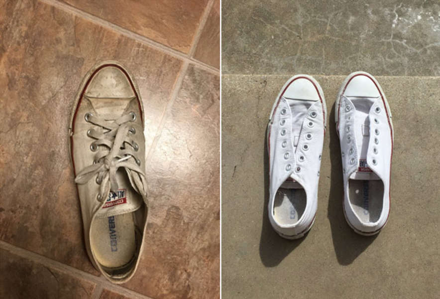 resistencia célula Excesivo  How to Clean Converse: One Twitter User Shares Her Trick - Thrillist