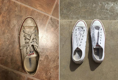 26bacbb19802 How to Clean Converse  One Twitter User Shares Her Trick - Thrillist